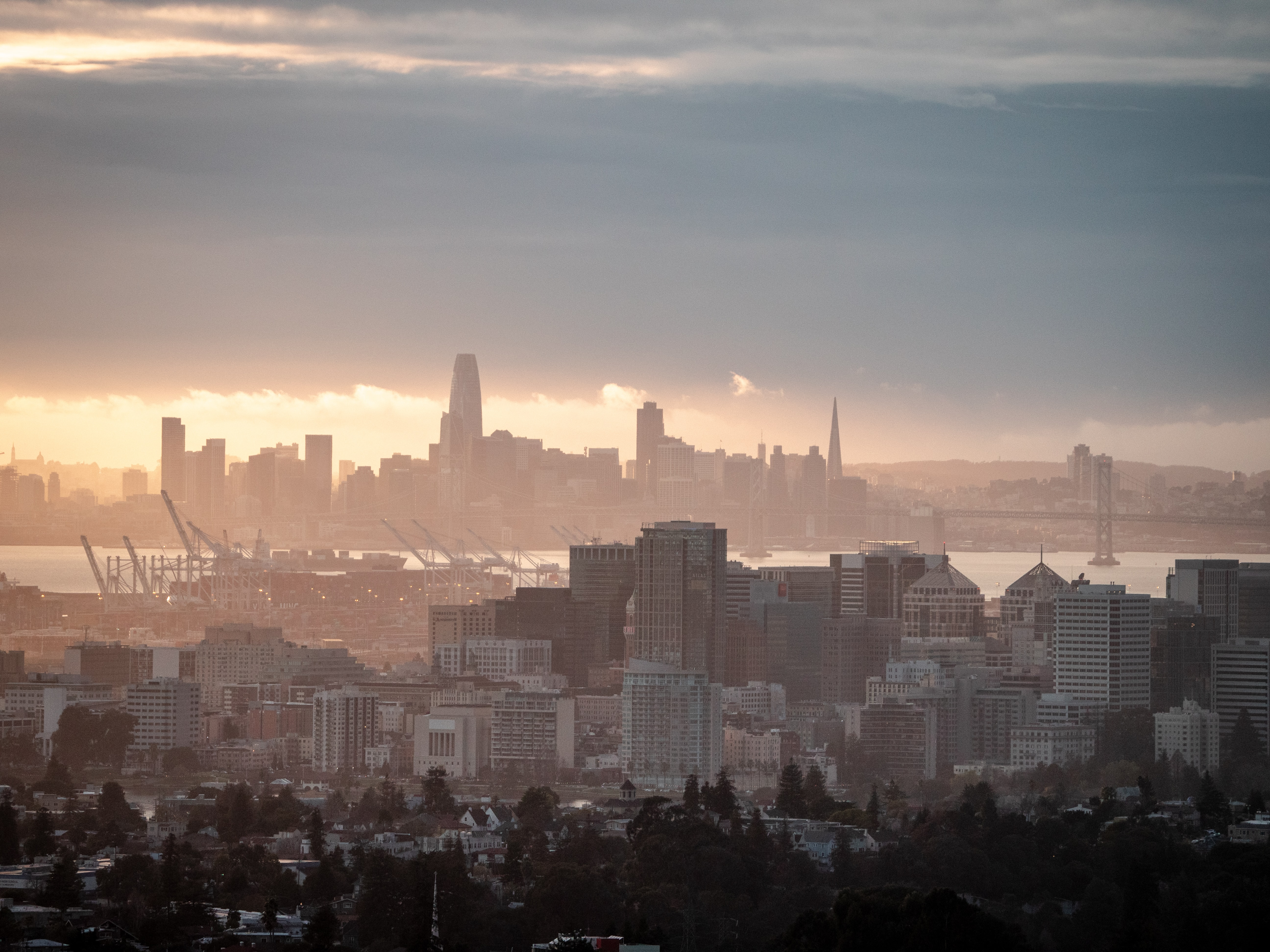 Urban skies over the San Francisco Bay Area